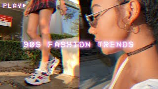 HOW TO STYLE 90s TRENDS / dad sneakers, plaid skirts, chokers, etc!