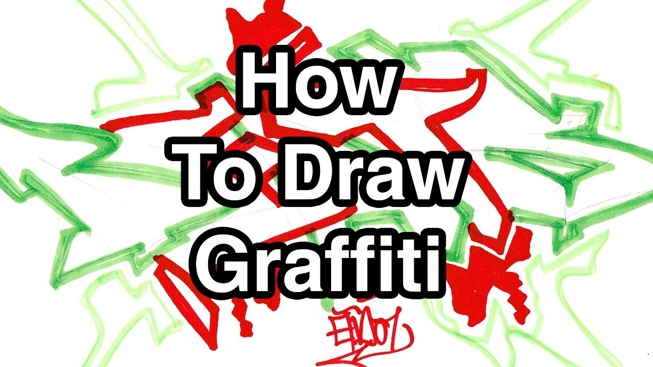 Step by step how to draw graffiti letters write beats in graffiti for beginners youtube
