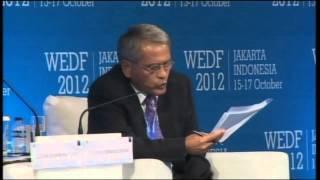 General Session, Prof. Djisman Simandjuntak - WEDF 2012, Jakarta, Indonesia