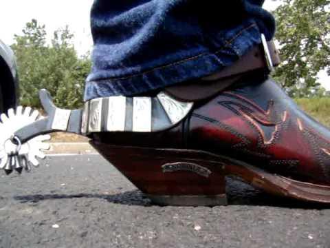 Making Noise in My Sendra Blue Hurricane Cowboy Boots - YouTube
