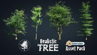Realistic Tree Asset Pack - for Blender 3D