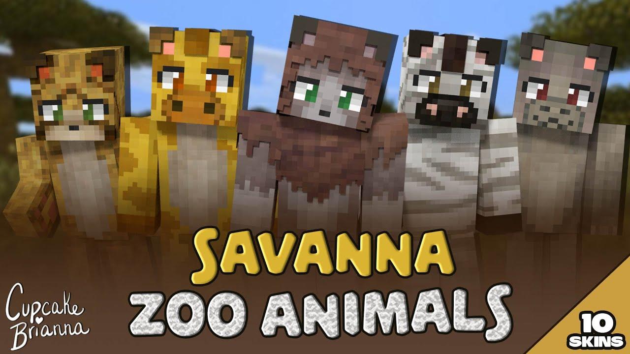 Savanna Zoo Animals HD Skin Pack Trailer  Minecraft Marketplace