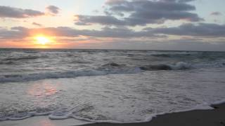 Relaxing Ocean Waves at Sunset   Royalty Free HD Stock Footage