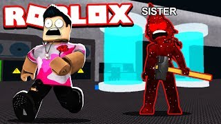My LITTLE SISTER Trolled Me As The BEAST!! (Roblox Flee the Facility)