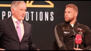 BILLY JOE SAUNDERS ANNOUNCES MOVE UP TO SUPER-MIDDLEWEIGHT & NEXT OPPONENT ON APRIL 13th @ WEMBLEY