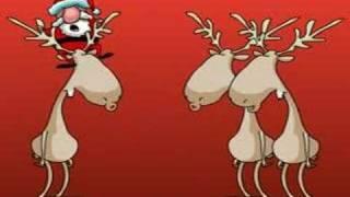 Papai Noel cantando com as renas