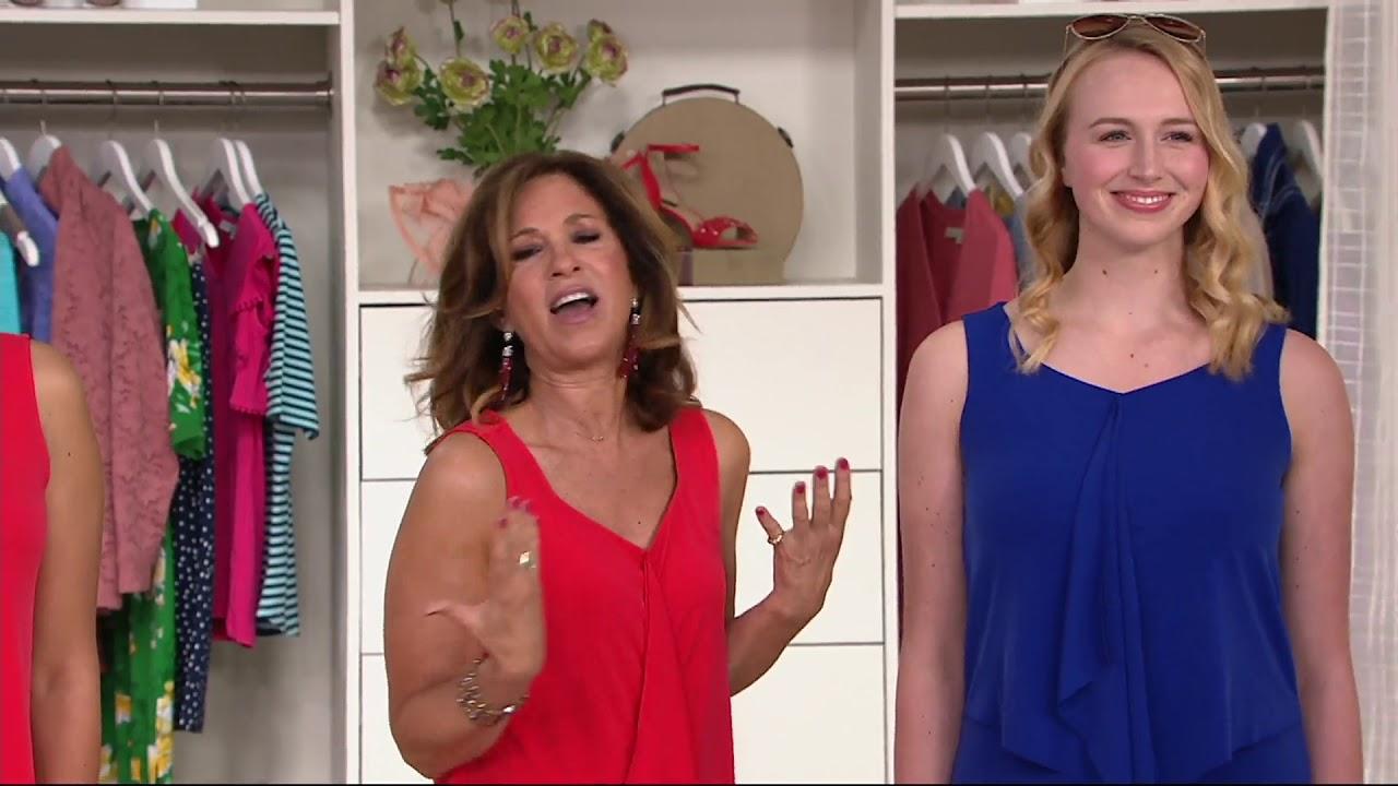 Susan Graver Liquid Knit Tiered Maxi Dress On Qvc Youtube