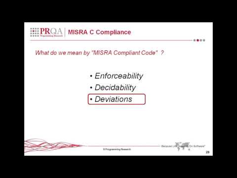 MISRA C Compliance - Excerpt from An Introduction to MISRA C:2012 Webinar