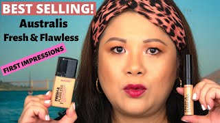 BEST SELLING Australis Fresh & Flawless Foundation & Concealer First Impressions | Affordable Makeup