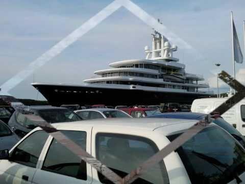 115 Meters Mega Yacht M Y Luna In Rovinj Harbour 02 09 2010