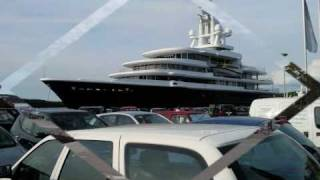 115 Meters - Mega Yacht - M/Y Luna - In Rovinj Harbour - 02.09.2010