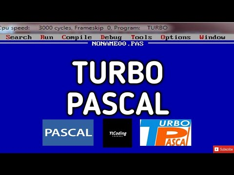Tutorial : Cara mudah download dan instal Turbo Pascal di Win. 7/8/10