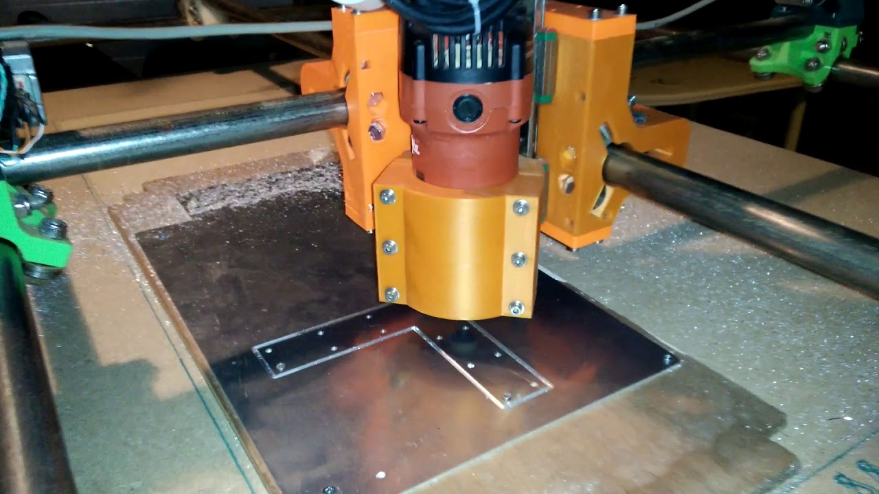 modified mpcnc milling aluminum