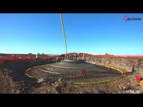 Proceso de cimentación en el parque eólico de MT Gellibrand (Australia) | ACCIONA