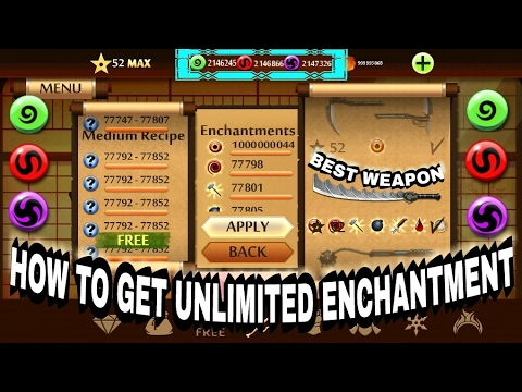 SHADOW FIGHT 2 HOW TO GET UNLIMITED ENCHANTMENTS