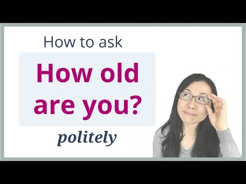"""How old are you?"" in Japanese - Better than なんさいですか"