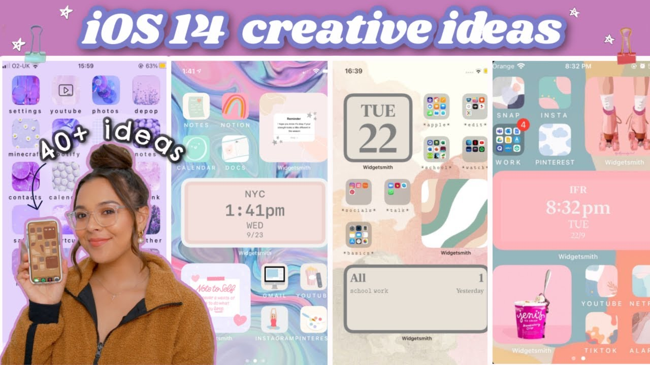 Aesthetic Ideas For Ios 14 How To Customize Your Iphone Step By Step Fast Easy Youtube