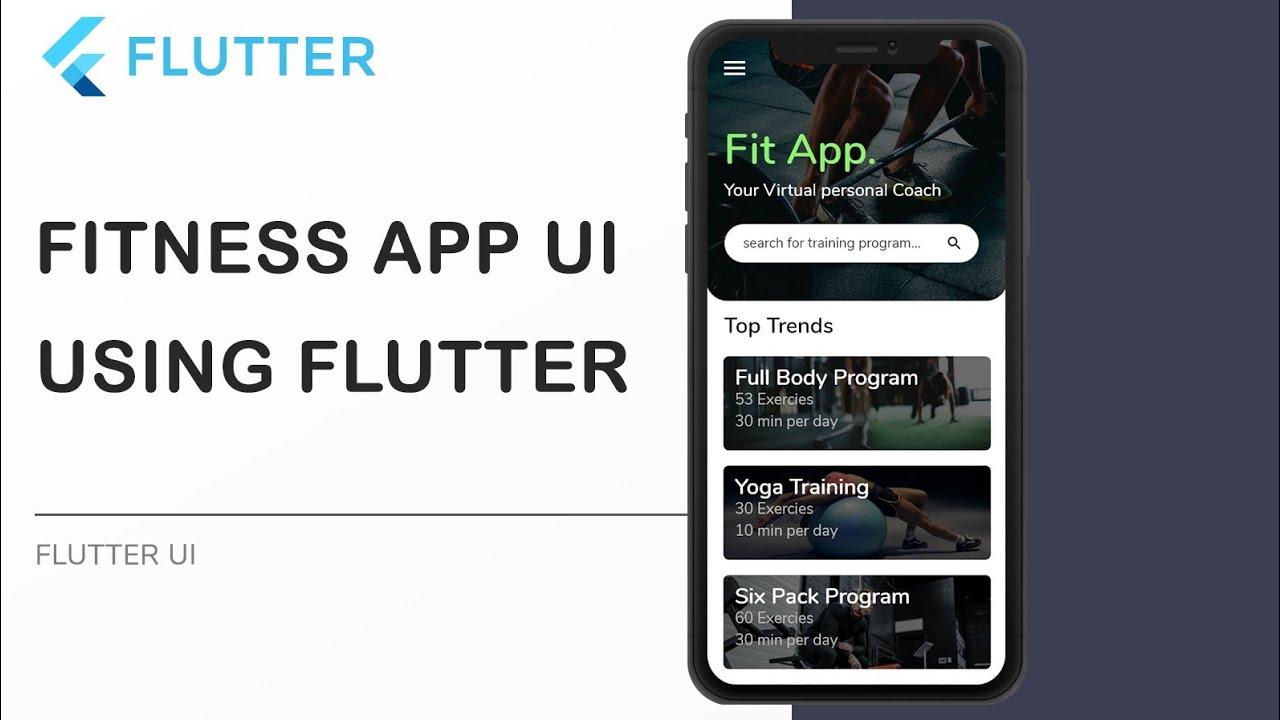 Fitness App UI Using Flutter