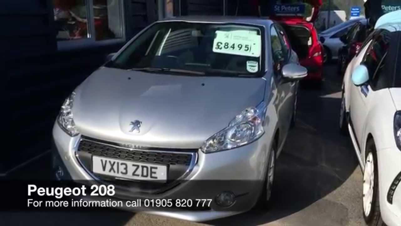 2013 Peugeot 208 5 Door 1 0 Vti 68 Active Vx13 Zde At St Peters Peugeot Worcester Youtube