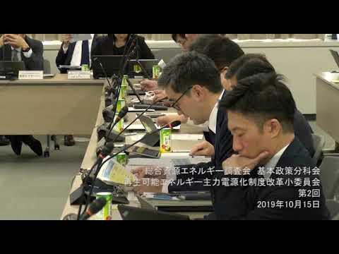 再生 可能 エネルギー 主力 電源 化 制度 改革 小 委員 会
