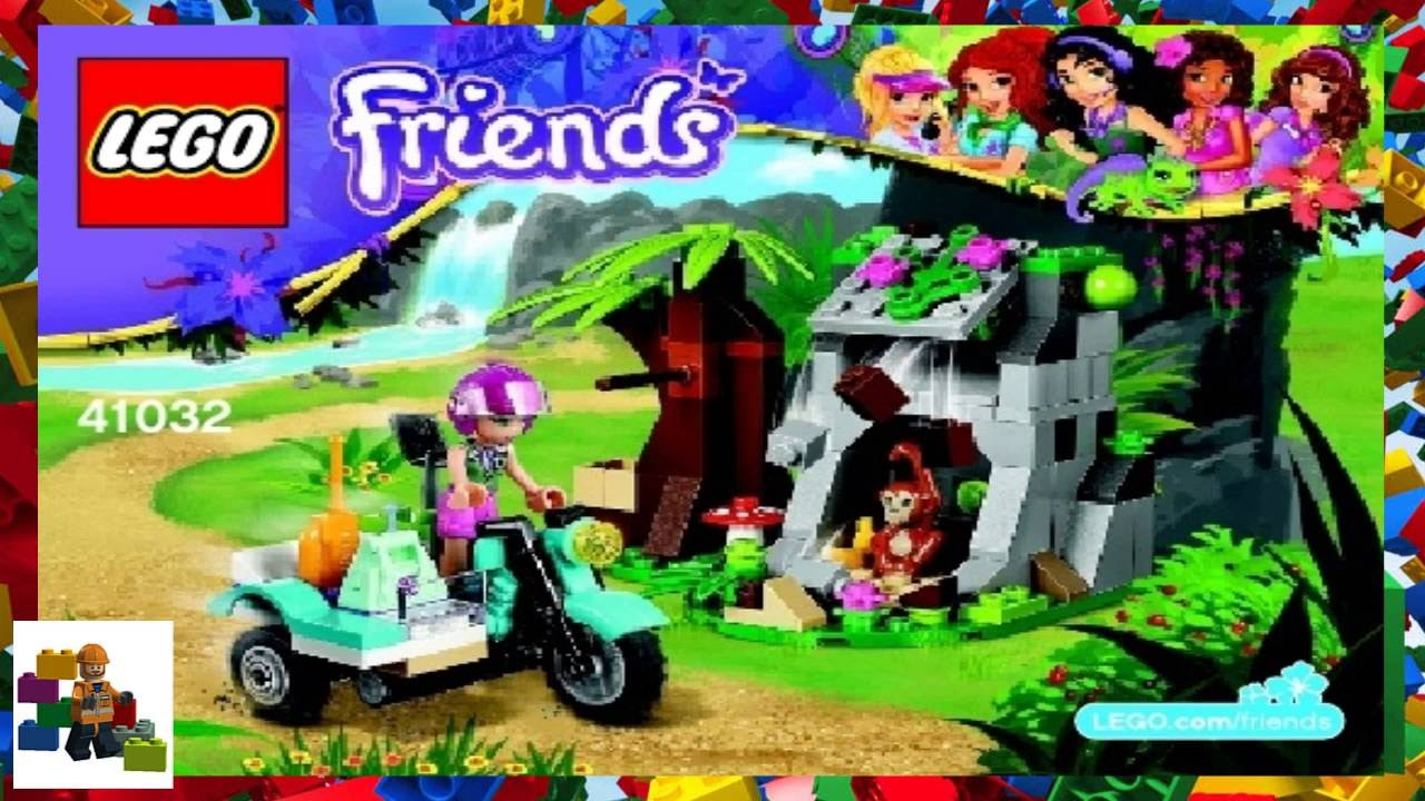 Lego Instructions Lego Friends 41032 First Aid Jungle Bike Youtube