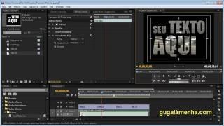 Tutorial Adobe Premiere - Como Colocar Vídeo Dentro do Texto? (HD).