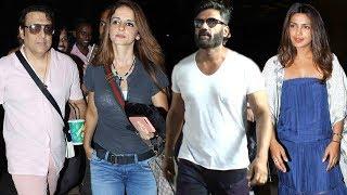Bollywood Celebs Spotted At Mumbai Airport   Priyanka Chopra, Suniel Shetty, Govinda