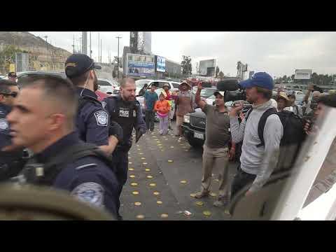 Immigrant caravan havoc ,San Ysidro 11-19-2018