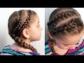 Toddler Double Dutch Accent Braids Hairstyle | Pretty Hair is Fun