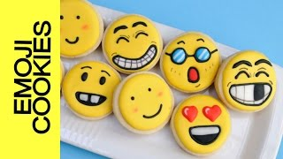HOW TO MAKE EMOJI COOKIES, DECORATING WITH ROYAL ICING(I made Emoji Face Cookies. These are so fun to make, you are going to have so much fun making these. In this tutorial I show you how to decorate several ..., 2014-08-06T00:38:31.000Z)