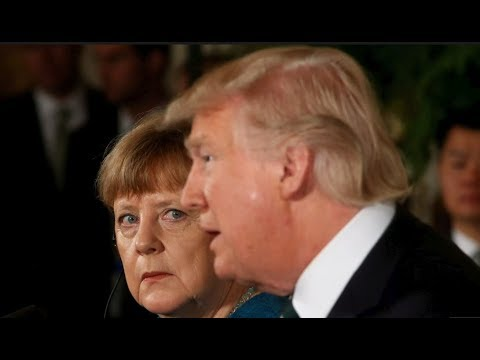 President Donald Trump SHOCKS Angela Merkel at Press Conference in the White House