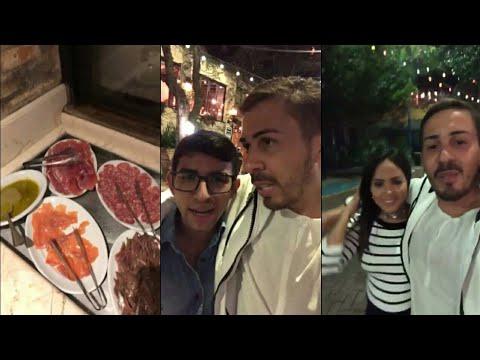 Carlinhos Maia janta com amigos em São Paulo