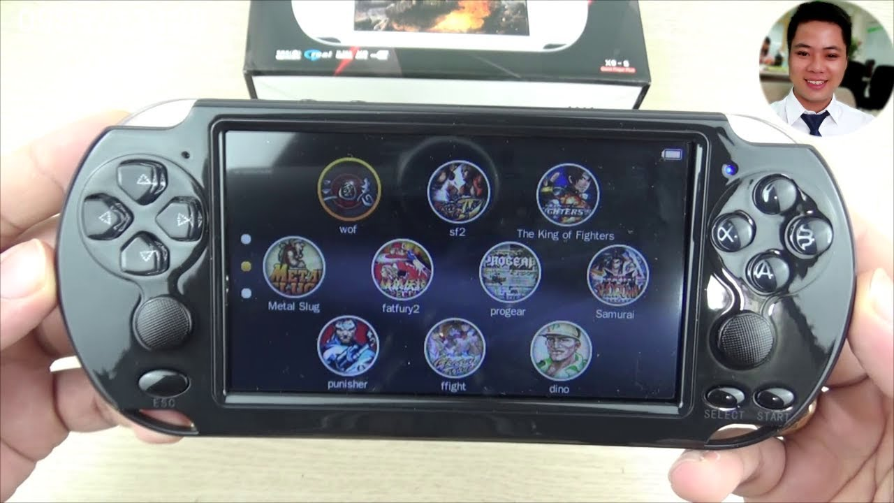 Máy chơi game cầm tay X9-S chơi game PS1, GBA, NES