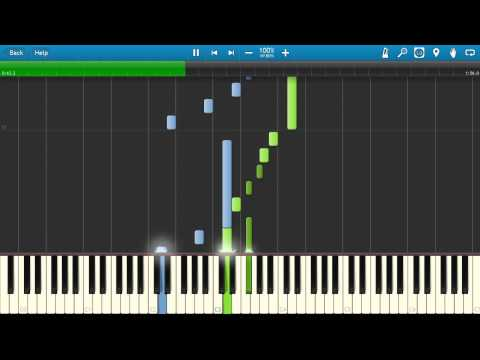[Synthesia] Sword Art Online OST - A Tender Feeling (piano Tutorial)