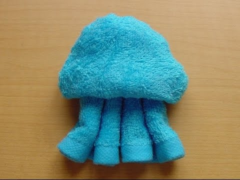 Penguin,jellyfish,turtle Made Of Wet Towel