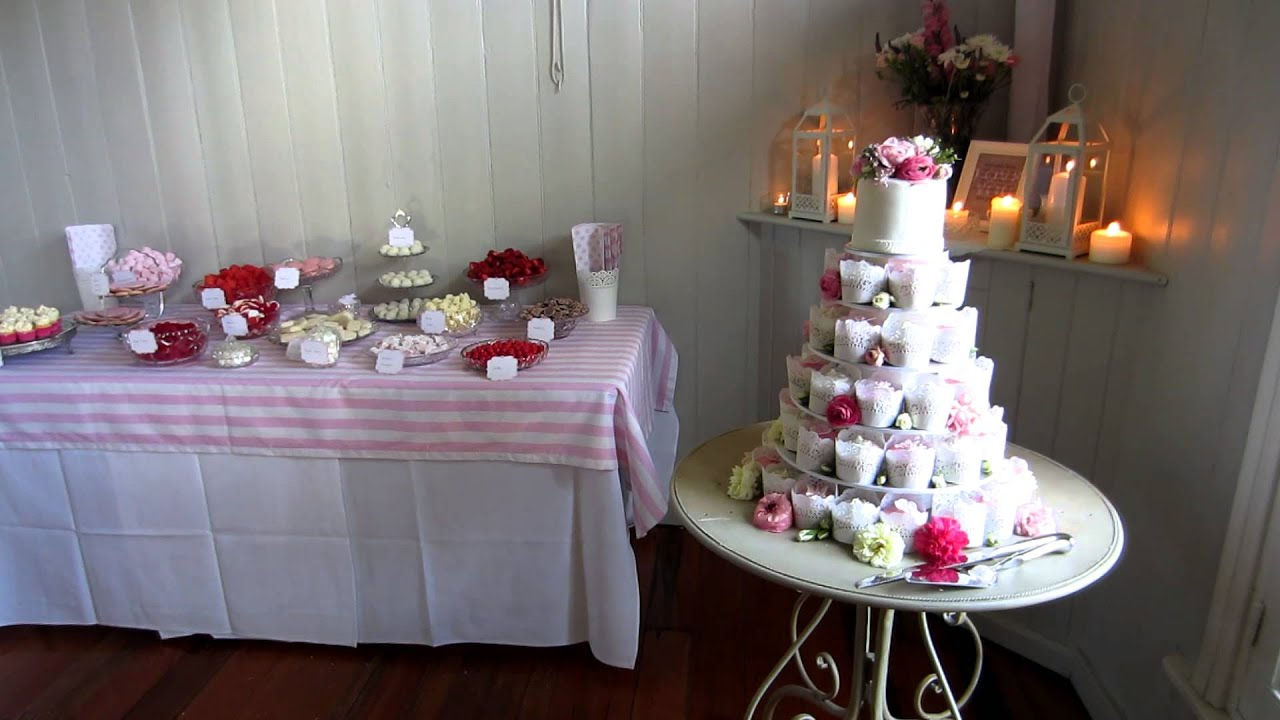 Final Wedding Dessert Table Set Up for Susan & Chris - YouTube