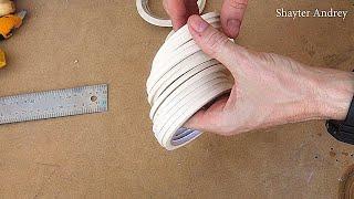 Как легко нарезать малярный скотч на узкие рулоны.