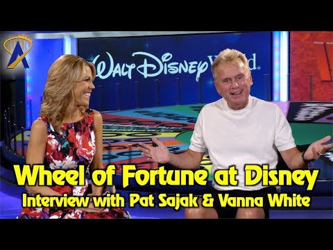 Wheel of Fortune at Disney - Interview with Pat Sajak and Vanna White