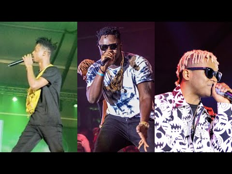 Kwesi Arthur, Medikal and Dice perform at Ghana Meets Naija 18 Stage