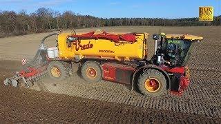 Gülle fahren 2019 Gülletrac VT4556 mit 25m3 Auflieger & John Deere 6250R driving slurry injection