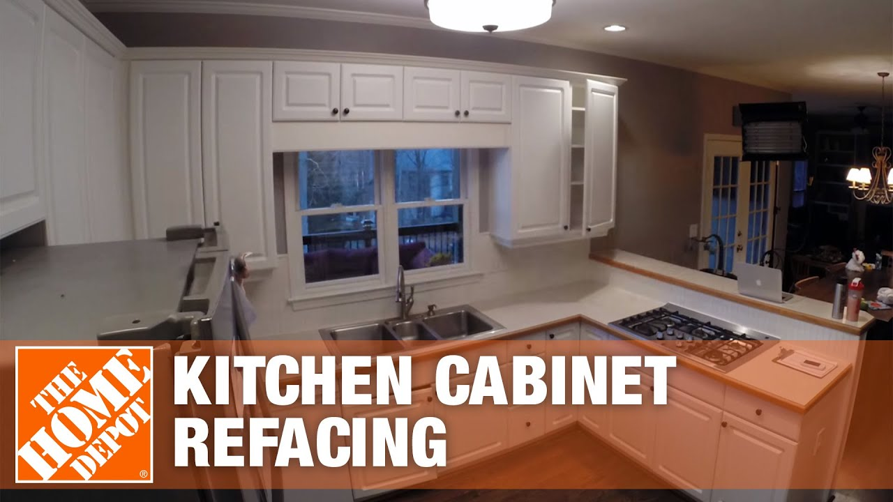 Home Depot Kitchen Furniture Kitchen Refacing Time Lapse The Home Depot Youtube