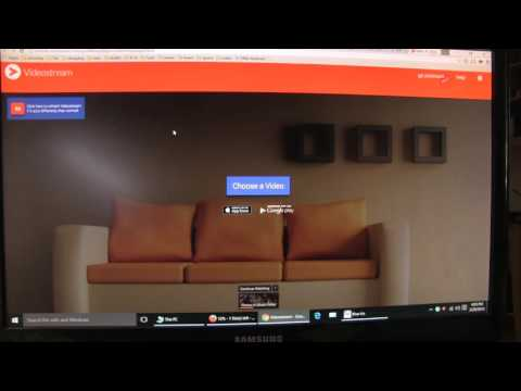 Using Videostream To Chromecast A Movie On Your Hard Drive