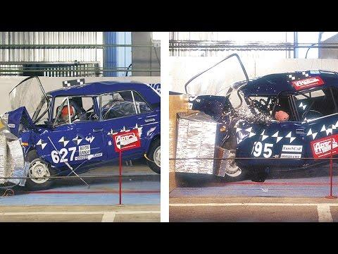Краш-тест ВАЗ-2106 и ВАЗ-2107