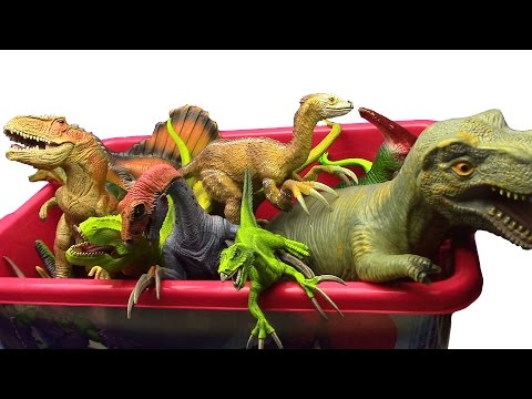 DINOSAURS BOX !!! What's in the box !?Jurassic World Dinosaurs Toys MY DINOSAUR TOYS COLLECTION ..