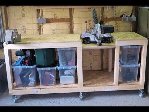 DIY workbench/miter saw station