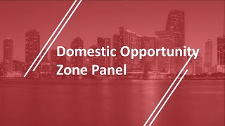 Domestic Opportunity Zones Panel at The 2019 NAI Florida & Caribbean Forum