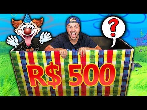 COMPREI A CAIXA MISTERIOSA DE R$ 500 REAIS !! (VALEU A PENA?)