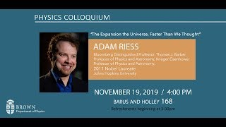 The Expansion of the Universe, Faster Than We Thought (Adam Riess)