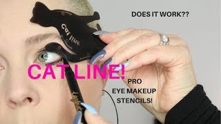 WHAT IS THIS?? CAT LINE!! PRO Eye Makeup Stencils!! Does It WORK?    Nicole Chantell