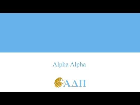 Alpha Alpha... Alpha Delta Pi Song